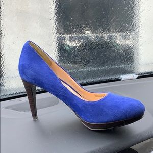 Cole Haan blue suede leather heels size 7B